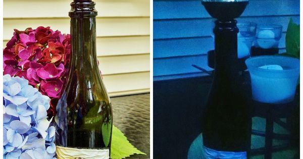 Solar wine bottle stopper and light bloggers 39 best diy for Diy solar wine bottle lights