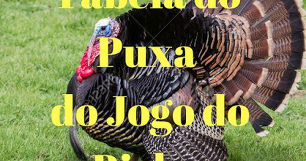 Tabela Do Puxa Do Jogo Do Bicho Com Imagens Jogo De Bicho