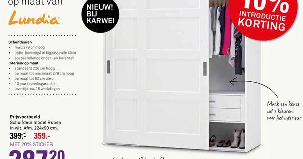 Lundia schuifdeuren interieur idee n pinterest schuifdeuren voor het huis en idee n - Opslag voor dressing ...