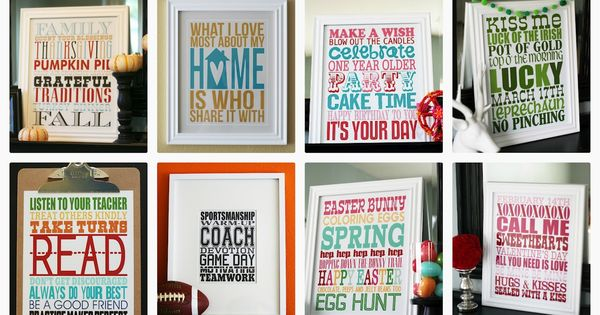 The mother load of free printables! Subway Art collection