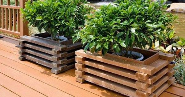 Wood Plastic Composite Flower Box With