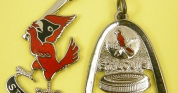 pair of enameled sterling silver st louis cardinal baseball vintage charms sold sweet. Black Bedroom Furniture Sets. Home Design Ideas