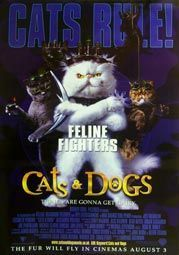 Cat Movie Poster Cats Dogs Movie Poster 2 Internet Movie