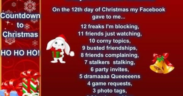 Loved This One 12 Days Of Christmas Funny Facebook Countdown 12 Days Of Christmas Funny 12th Day Of Christmas Christmas Facebook