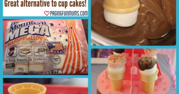 Marshmallow cones - special occasion - make it ADHD diet friendly by