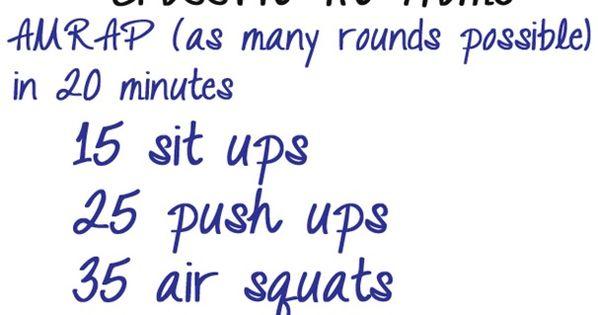 20 Minute Crossfit at Home Workout katrina-runs.com