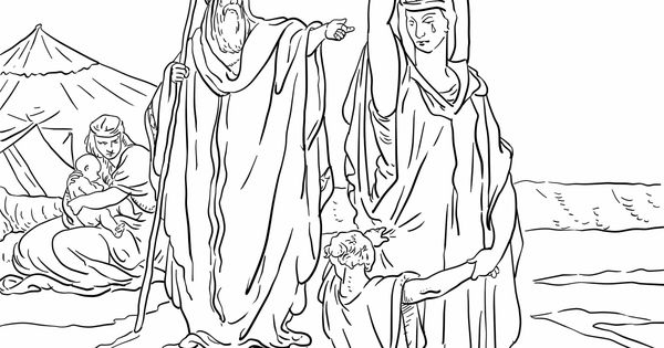 hagar and ishmael coloring pages - photo#8
