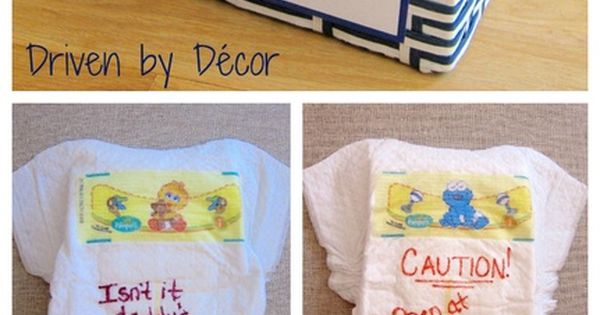 BABY SHOWER idea- For
