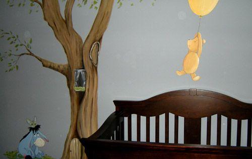 Classic winnie the pooh mural muralist debbie cerone for Classic pooh wall mural