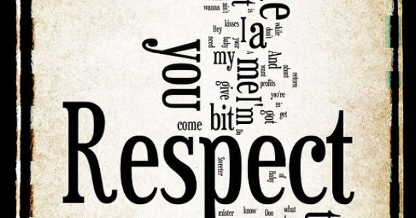 Respect Aretha Franklin Word Art 8x10 Word Cloud by ...