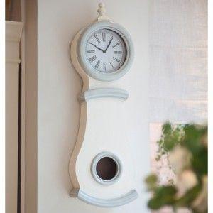 Small Wall Hung Mora Clock Antique White Clock Wall Hanging