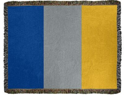 East Urban Home St Louis Hockey Throw Size 50 X 60 Color Royal Blue Gray Gold Material Cotton Blue Color Schemes Blue Gray Gold Royal Blue Color Scheme