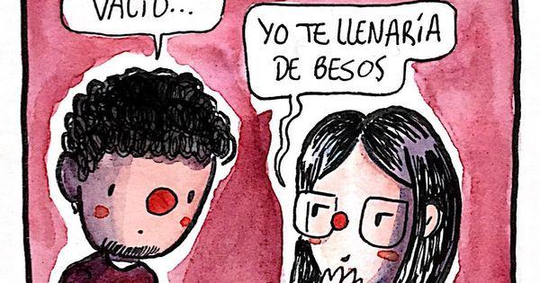 A Quien Llenarías De Besos Besos Beso Dibujo Willlabeta Viñeta Español Argentina Frases De Besos Frases Argentinas Besos