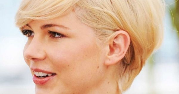 short hair cut for round faces - Google Search