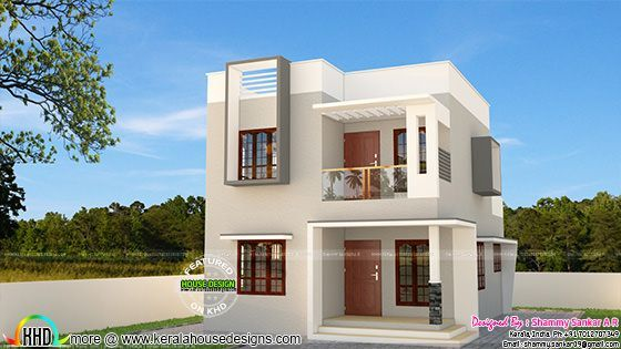 Simple Contemporary Style 1314 Sq Ft Home Elevation In