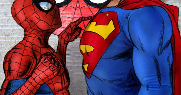 ha! marvel vs d.c...I SAY, it could go either way. spidey's always