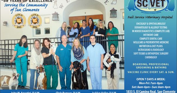 San Clemente Veterinary Hospital Has Been Providing Quality Pet Health Care To South County Since 1957 Veterinary Hospital Pet Health Care Veterinary
