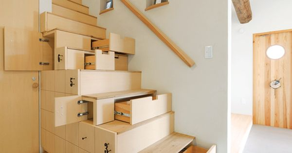 Space saving stairs - good & nice design to create more function