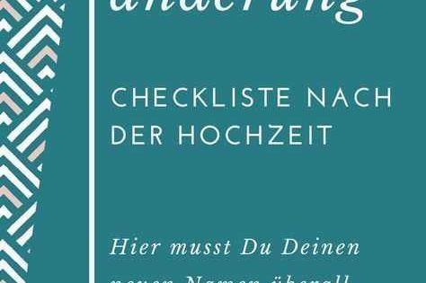 Checkliste Fur Namensanderung Nach Hochzeit Holztisch Unsere Checkliste Fur Die Namensander In 2020 Wedding Checklist Wedding Event Planning Event Planning Tips