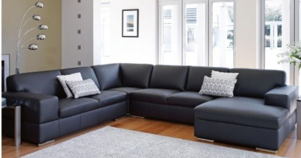 St  Henri Leather Modular Lounge Suite - Lounges - Living Room