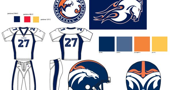 The Denver Broncos Logo Design 15 Years Later See How
