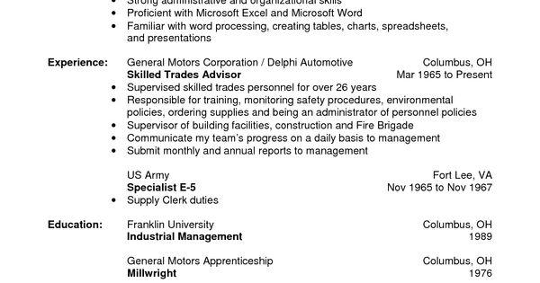 warehouse resume no experience    jobresumesample