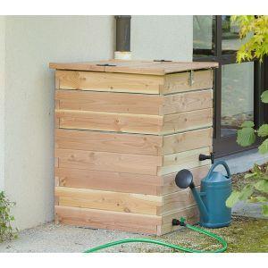 Recupérateur à eau en bois 500 litres | Récupérateur d\'eau ...