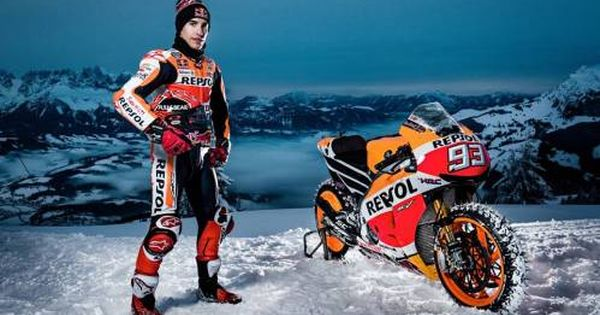 Watch Marc Marquez Ride His Motogp Bike On An Extreme Ski Slope