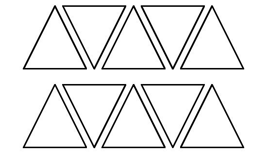 2 Inch Triangle Pattern. Use The Printable Outline For
