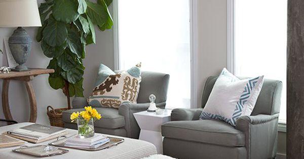 Cozy living space + furry rug