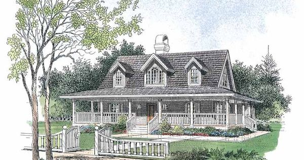 Low country house plan with 1778 square feet and 3 for Low country house plans with detached garage