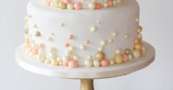 Hochzeitstorte-perlen-apricot-gold.jpg 430×645 Pixel  Hochzeit ...
