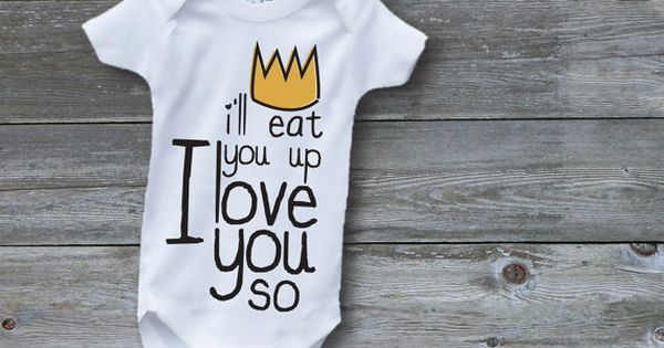 I'll Eat You Up I Love You So Screen Printed Baby Onesie
