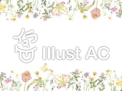 花枠242 可愛らしい花枠2飾り枠 ガーベラ イラスト 無料 イラスト 飾り枠