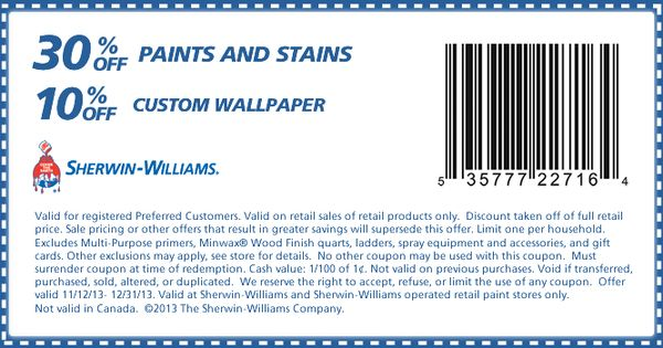Sherwin Williams 30 Off Coupon | 2017 - 2018 Best Cars Reviews