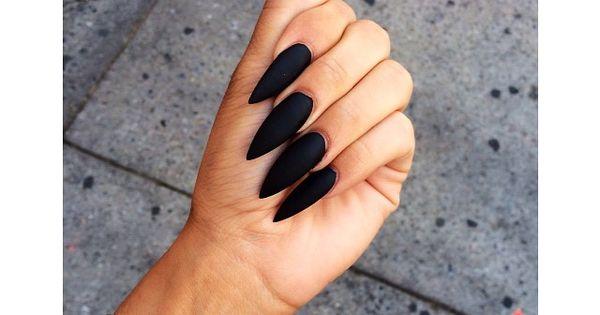 Image via We Heart It https://weheartit.com/entry/170776990 beautiful blacknails cute long nail nails