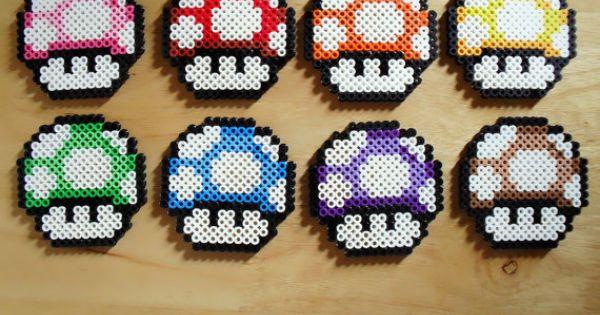 Colourful Mushroom Coasters