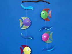 Fisch Mobile Mobile Basteln Basteln Und Fisch Mobil