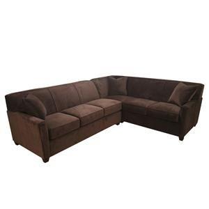 Nebraska Furniture Mart Bauhaus 2 Piece Brown Microfiber
