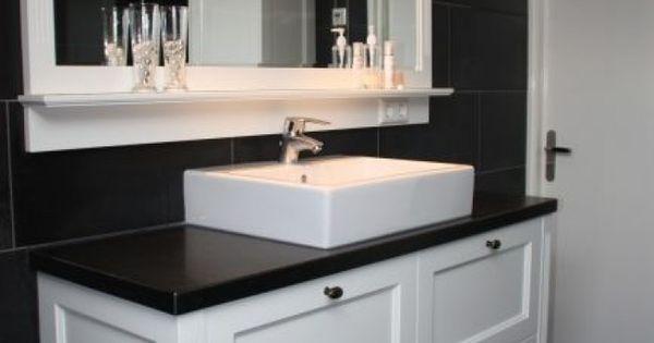 Badkamermeubel Zwart Wit Fris En Strak Badkamer