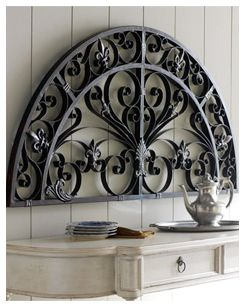 Arched Metal Wall Decor Wrought Iron Wall Decor Iron Wall Decor Tuscan Wall Decor