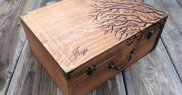 Quot reaching tree pyrography by mad raven woodworks