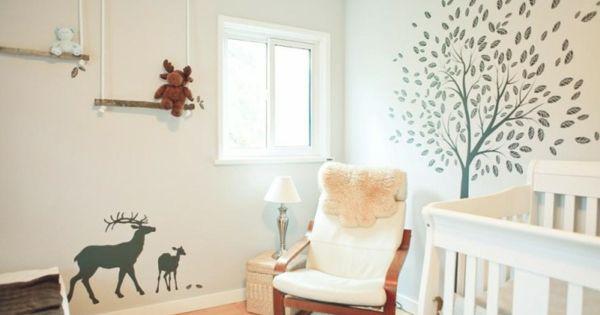 ... pour la chambre de bébé - arbre - Archzine.fr  Stickers and Bebe