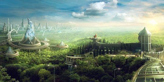 The Environment Distopias And Energy What Is Solarpunk Futuristic City City Artwork Eco City