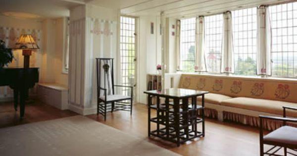 Interior Of Mackintoshu0027s Hill House, In Helensburgh, Scotland.  #architecture #artsandcrafts #artnouveau | To Go | Pinterest | Båtar Och  Glasgow