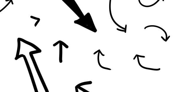 57 hand-drawn black arrows