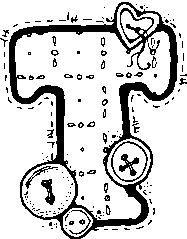 Abecedario Para Colorear Con Botones Letras Do Alfabeto Alfabeto Desenhado Alfabeto