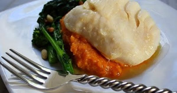 Olive Oil-Poached Cod With Roasted Tomatoes Broccoli Rabe Recipe ...