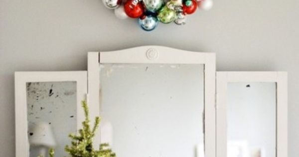 christmas wreath~ like these colors