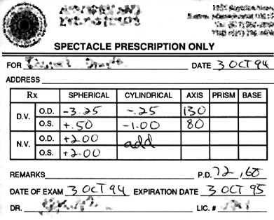How To Read Eyeglass Prescriptions Prescription Eyeglasses Eyeglasses Money Sense